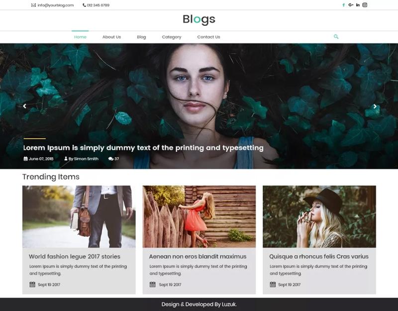 LZ-Real-Blog Tema WordPress Blog Gratis