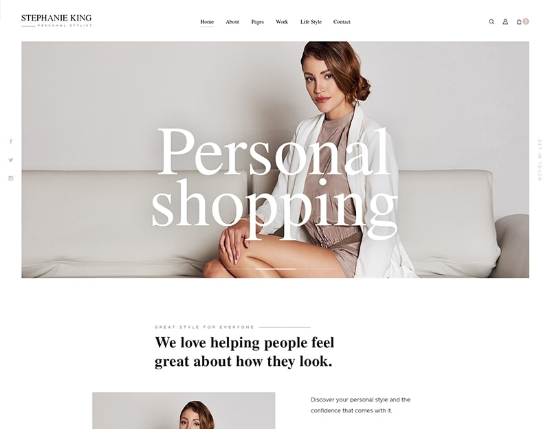 S.King Tema WordPress de Moda