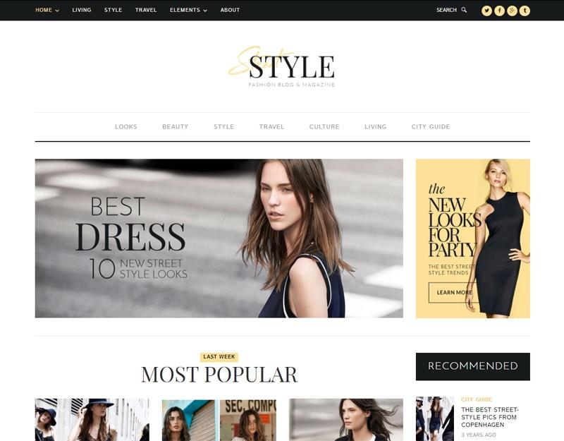 Street-Style Tema WordPress de Moda