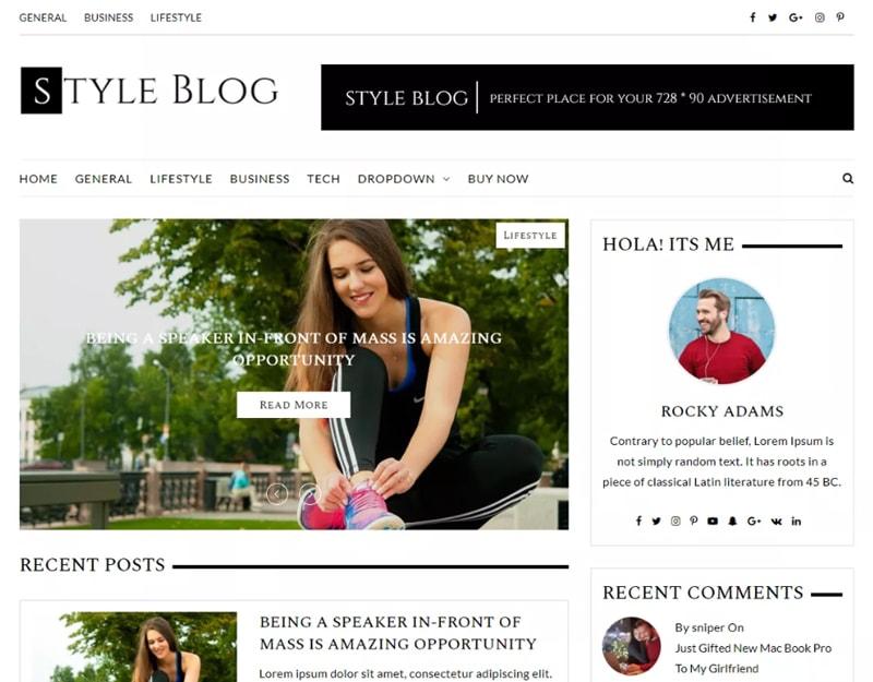 StyleBlog Tema WordPress de Moda Gratis