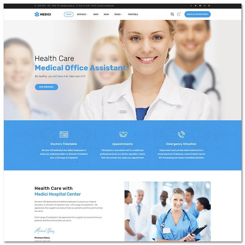 Medici - Saúde e Medicina WordPress Theme