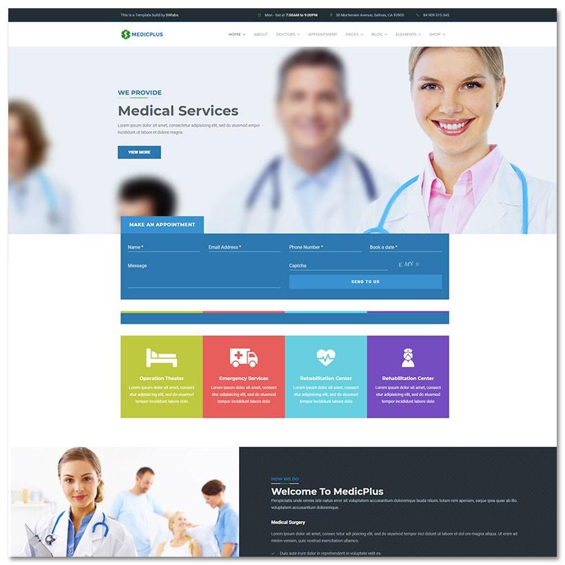 MedicPlus - Saúde e Médico WordPress Tema