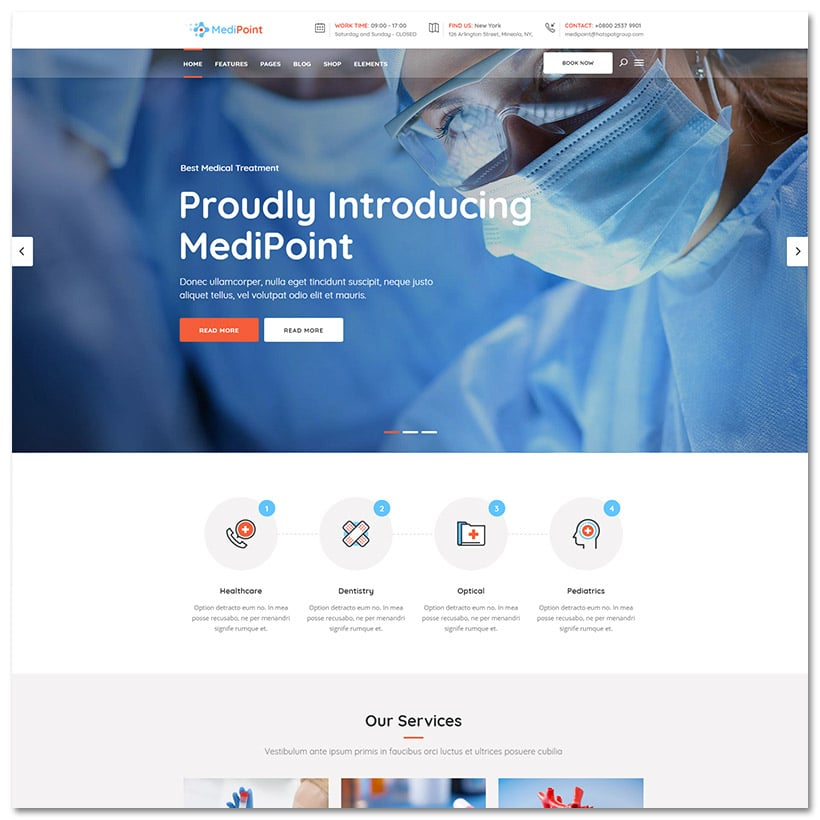 MediPoint - Tema Medico