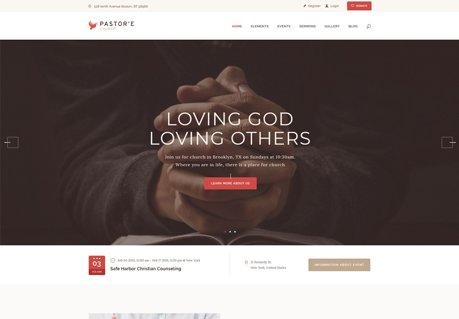 Pastore | Church, Religion & Charity WordPress Theme