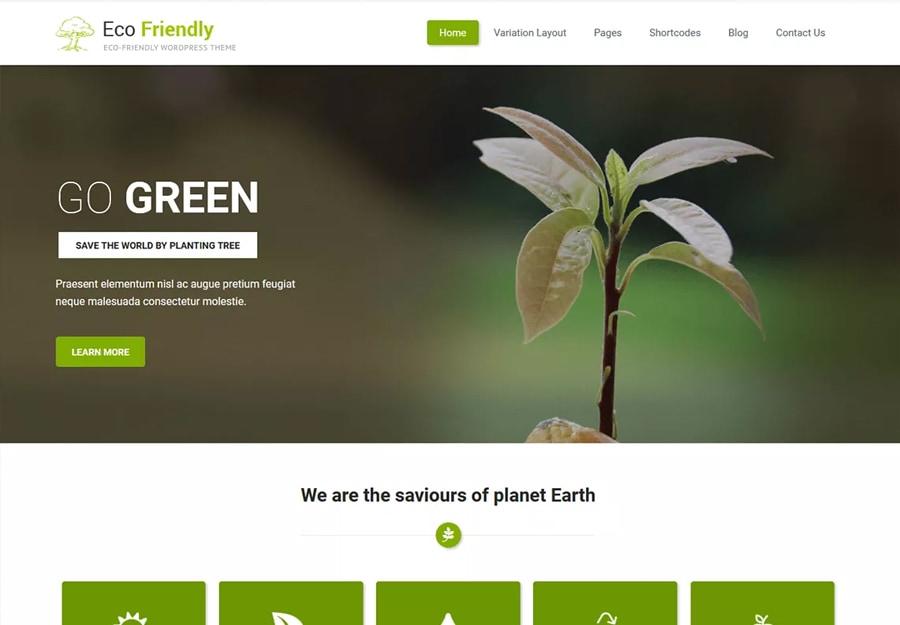 Tema WordPress Verde Simples para Agricultura