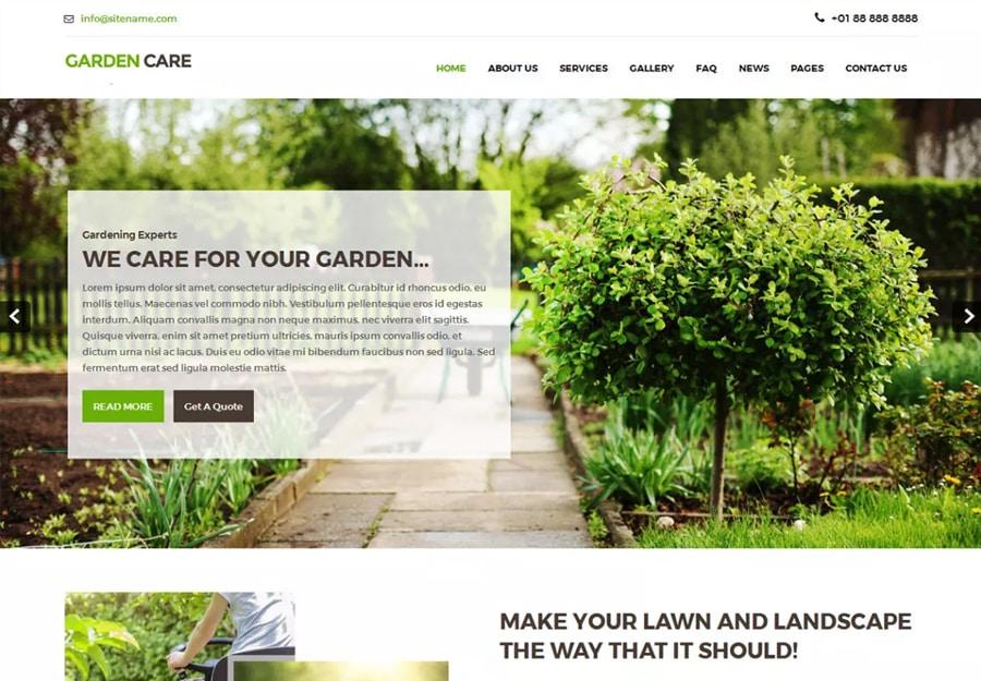 Tema WordPress Ecologico para Ervas e Verduras