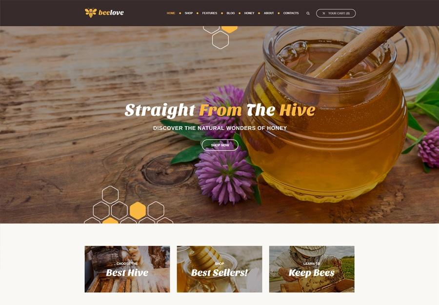 Tema WordPress Produção de mel e loja online