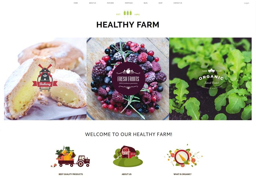 Tema WordPress Agricultura e Fazenda Saudável