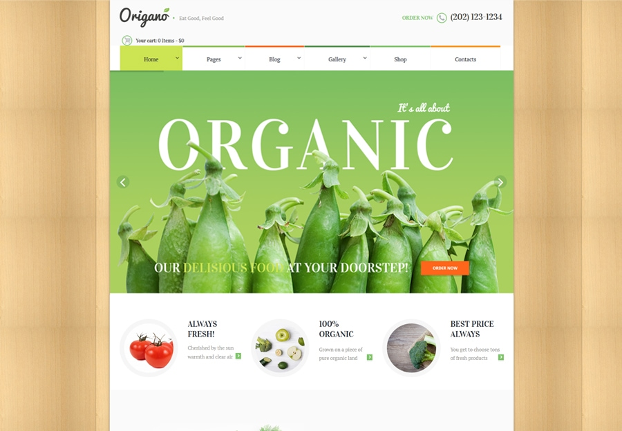 Tema WordPress Organic Food & Eco Farm