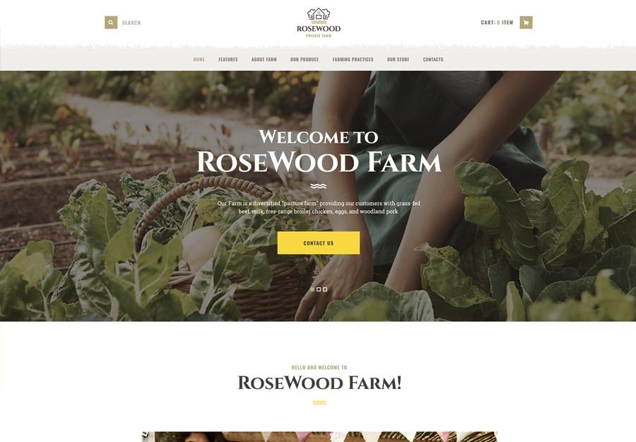 Tema de WordPress de agricultura orgânica