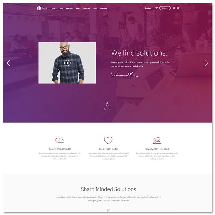 HUE - Tema WordPress Poderoso, Massivo e Moderno Multipropósito