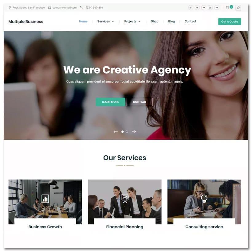 MULTIPLE BUSINESS - Tema WordPress para Negócios Variados