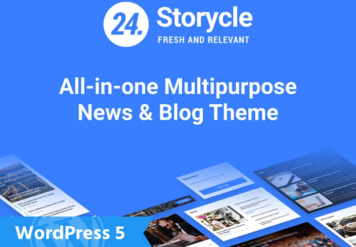 Storycle Tema WordPress Multipropósito Magazine e Blog