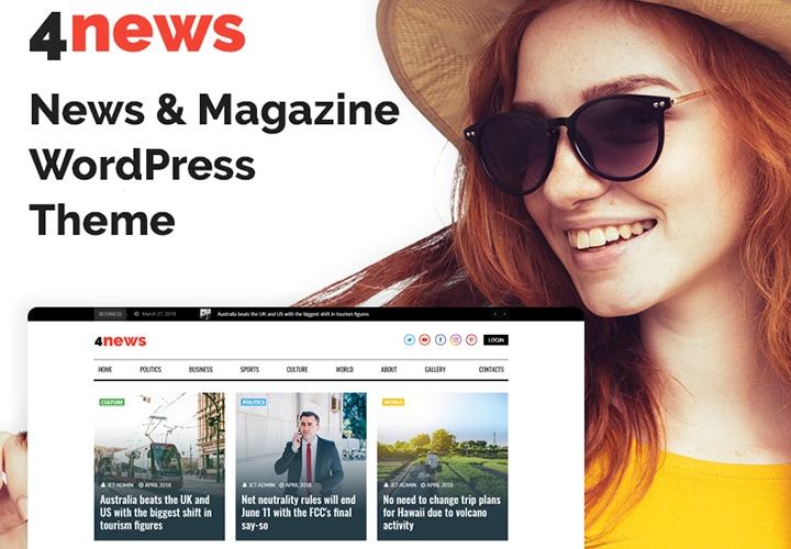 4News - Tema WordPress com Elementor para Revistas e Notícias