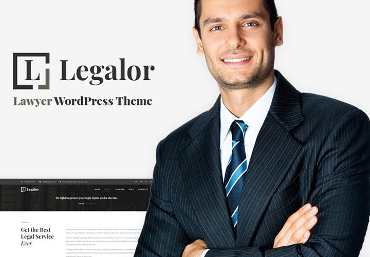 Legalor - Tema de WordPress Elementor para sites de advocacia