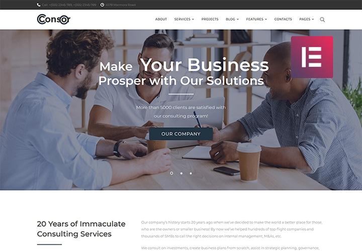 Condor - Tema WordPress de Consultoria Multipropósito