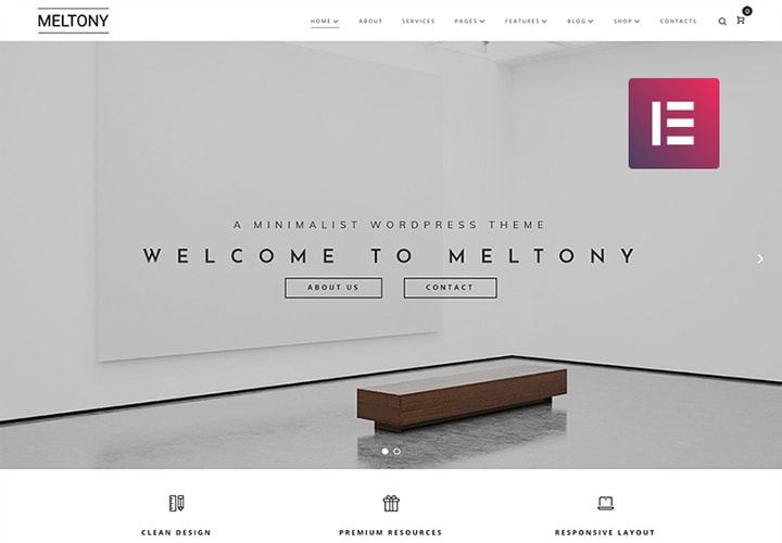 Meltony - Tema WordPress Minimal Multipropósito Elementor