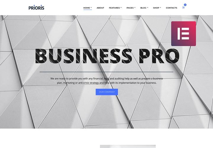 Prioris - Tema WordPress para Agência de Consultoria com Elementor