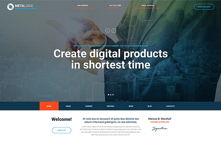 Metalogic - Tema de Desenvolvimento de Software WordPress