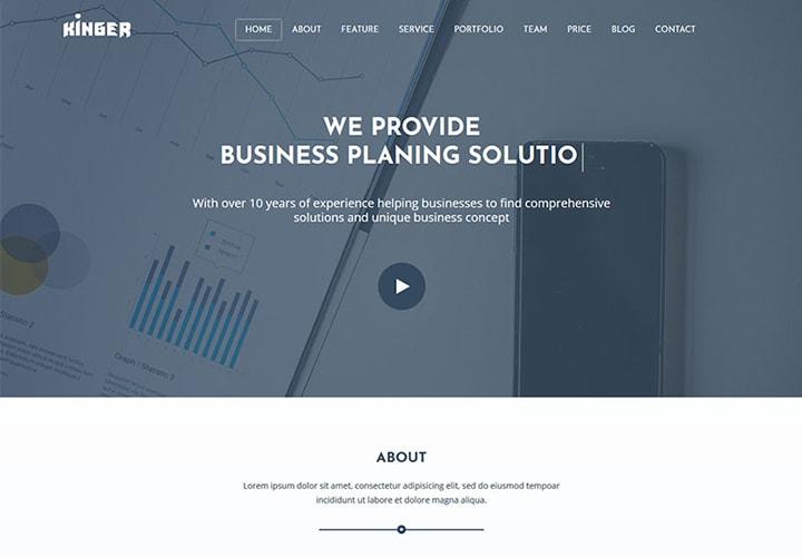 Kinger - Tema WordPress para Portfólio de Negócios Pessoais