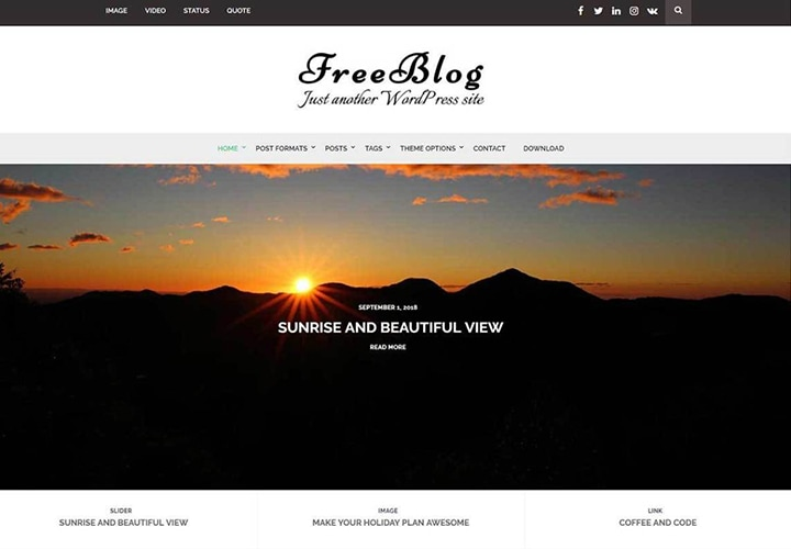 Free Blog - Tema WordPress para Blogs