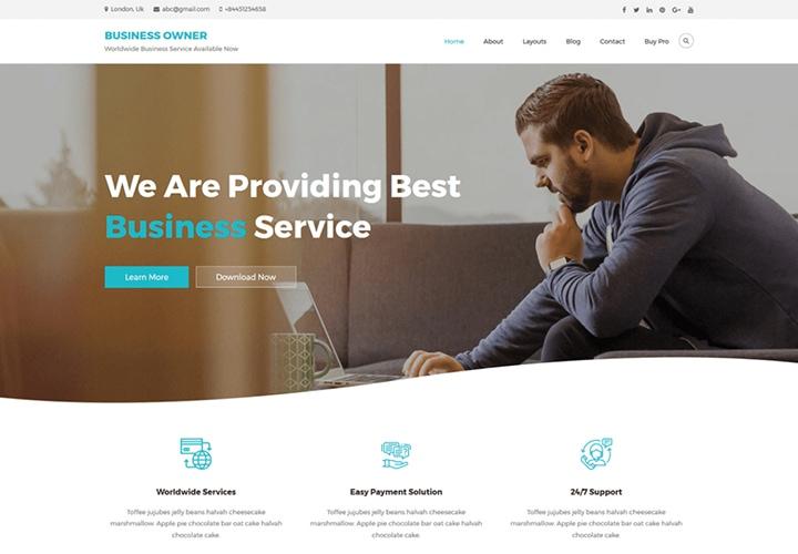 Business Owner - Tema WordPress para Startup e Pequenos Negócios