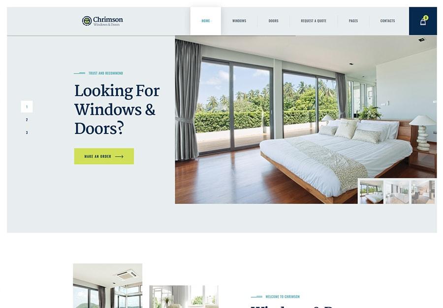 Chrimson - Tema WordPress para Serviços de Janelas e Portas