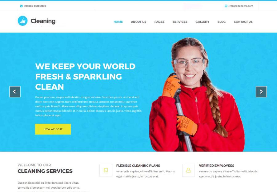 Cleaning Lite - Tema WordPress para Serviços Limpeza