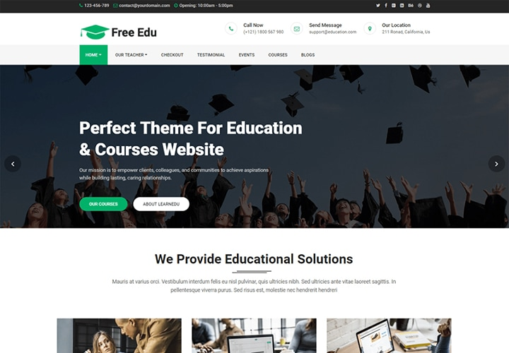 Free Education - Tema WordPress para Blogs de Educação