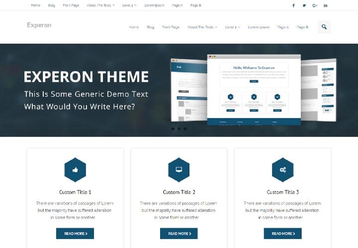 Experon - Tema WordPress para Sites de Negócios