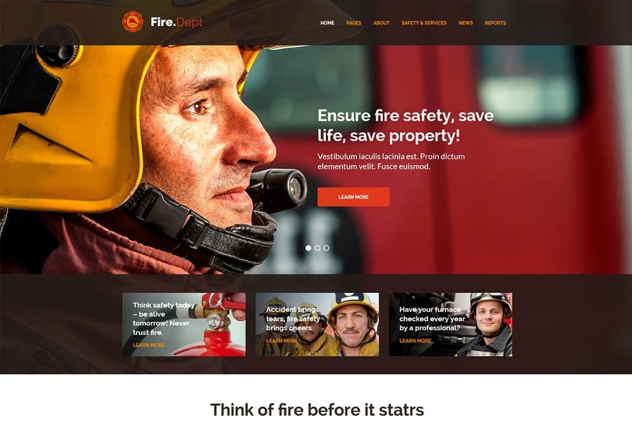 Fire Dept - Tema WordPress para Corpo de Bombeiros e Segurança