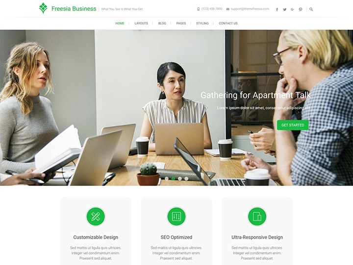 Freesia - Tema WordPress para Negócios