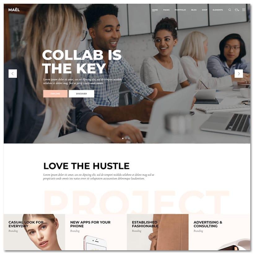 Mael- Tema WordPress Agências Modernas e Criativas