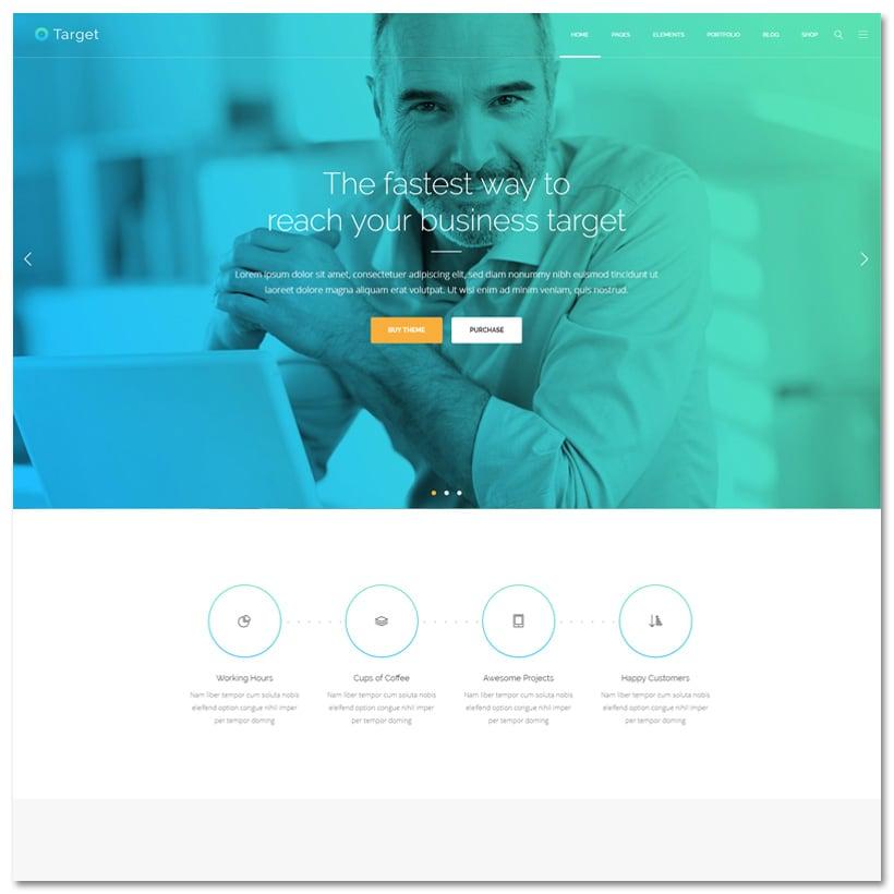 Target - Tema WordPress Poderoso com Design Limpo para Negócios