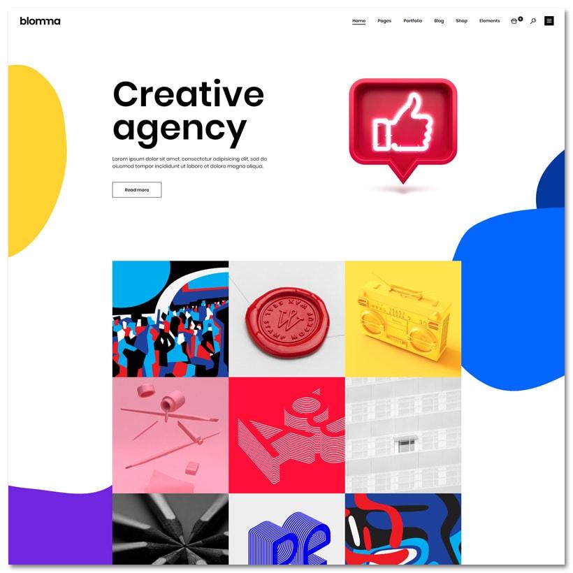 Blomma - Tema WordPress para Portfólio de Agências Criativas