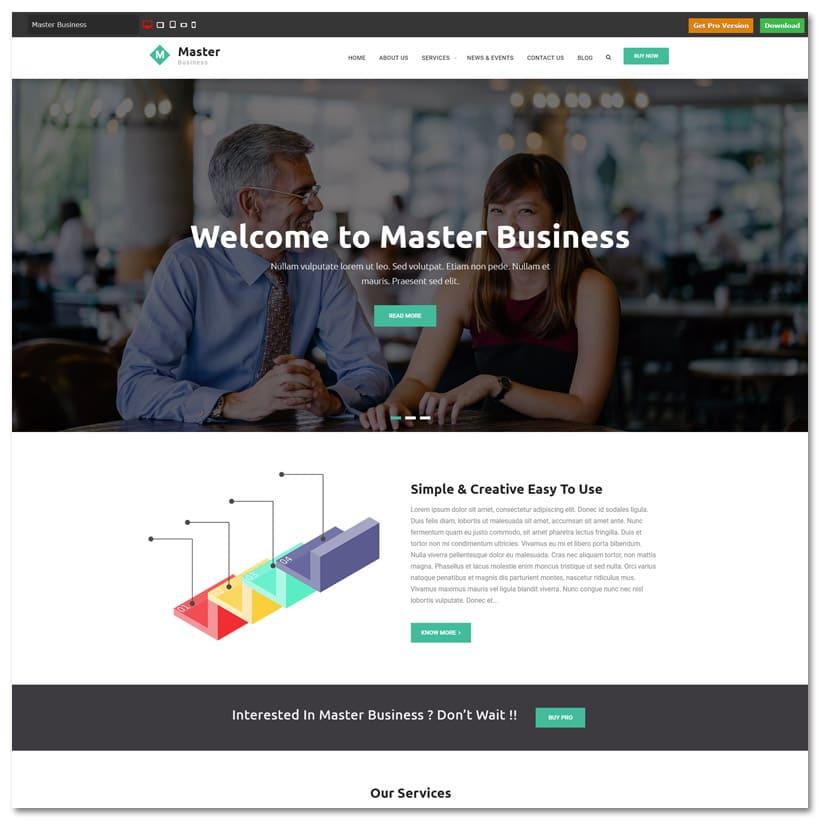 Master Business - Tema WordPress para Negócios Simples e Elegante