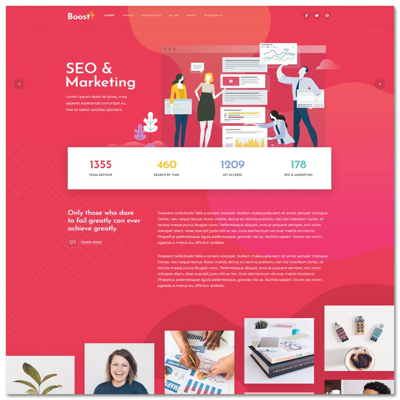 BoostUp - Tema WordPress para Agência de Marketing e SEO