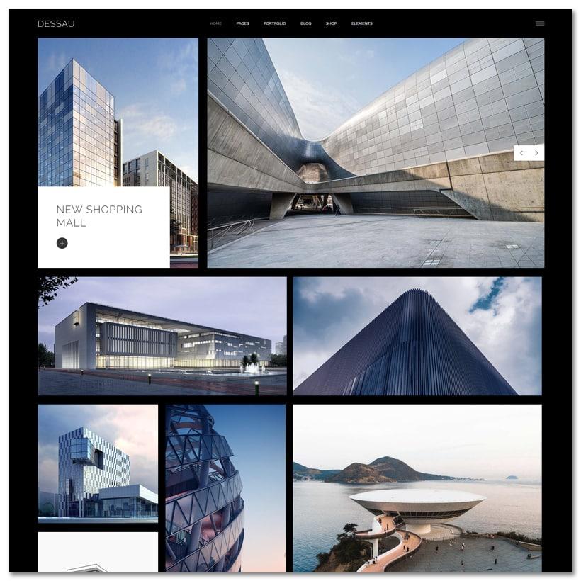 Dessau - Tema WordPress Contemporâneo para Arquitetos e Designers de Interiores