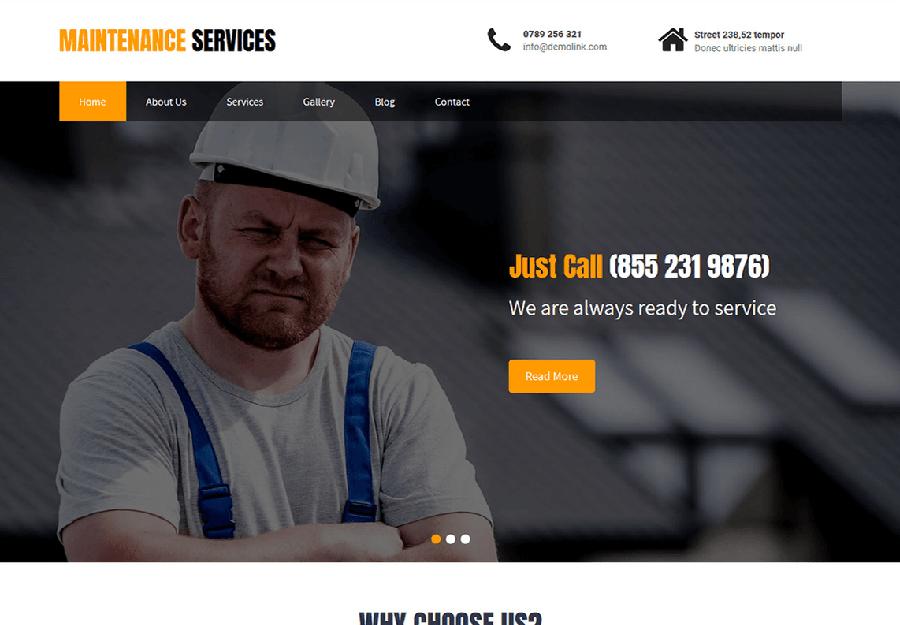 Maintenance Services - Tema WordPress para Manutenção