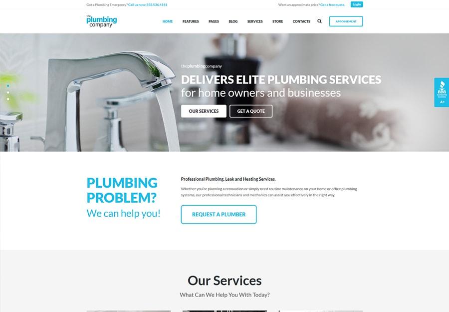 Plumbing - Tema WordPress para Serviços de Reparação, Desenvolvimento e Construção