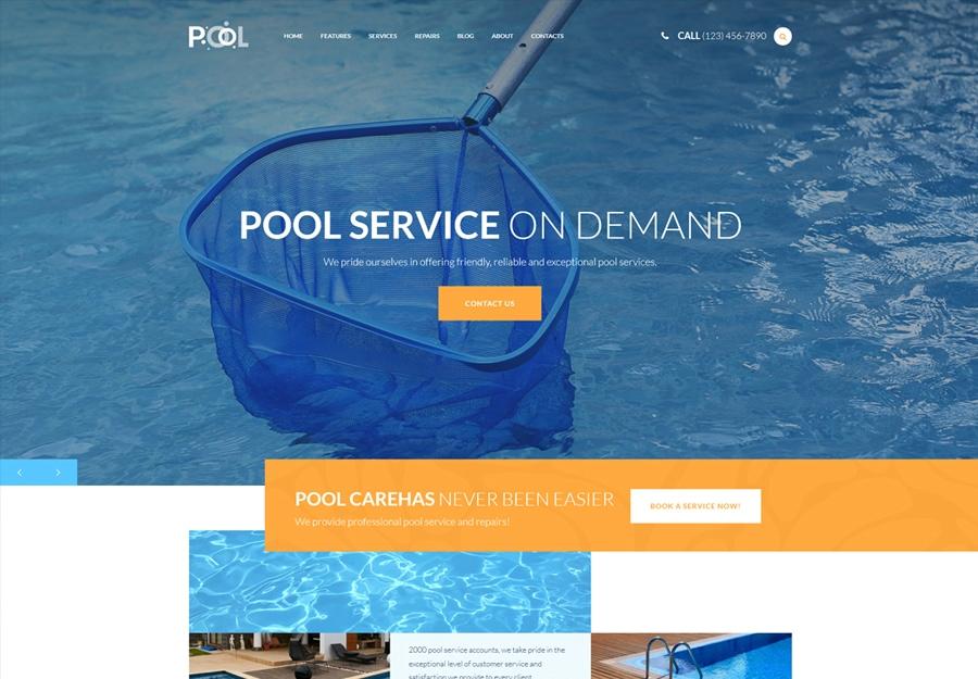 Pool - Tema WordPress para Serviços de Manutenção de Piscinas