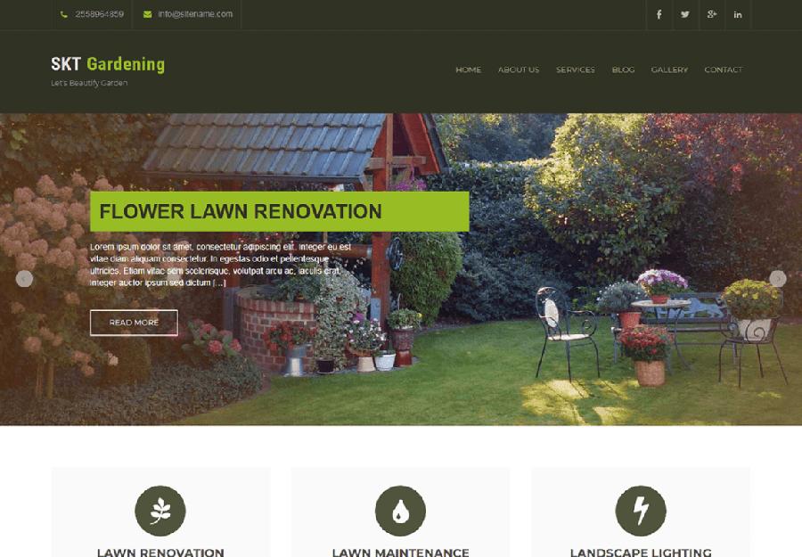 SKT Gardening Lite - Tema WordPress para Jardinagem