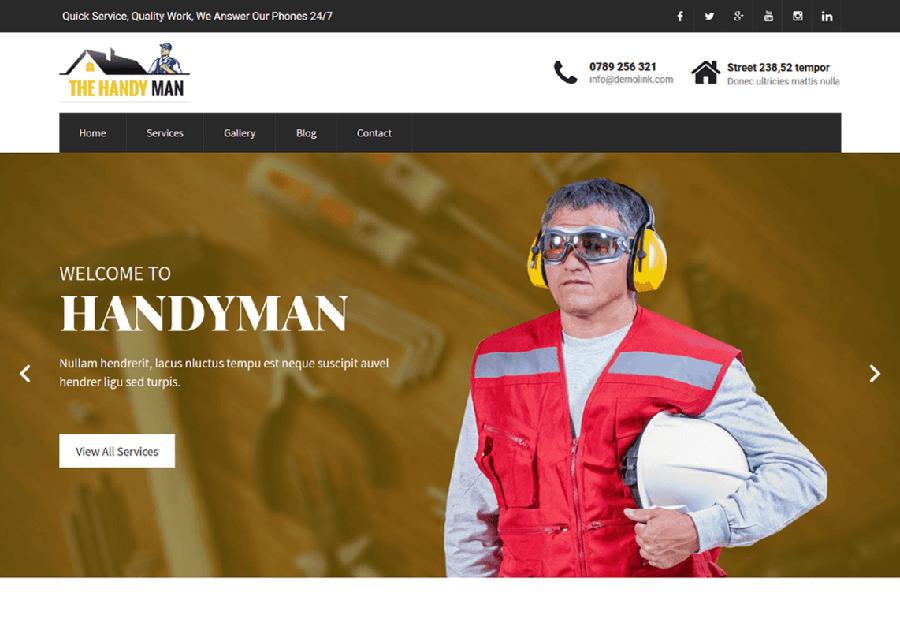 Handyman - Tema WordPress para Faz Tudo