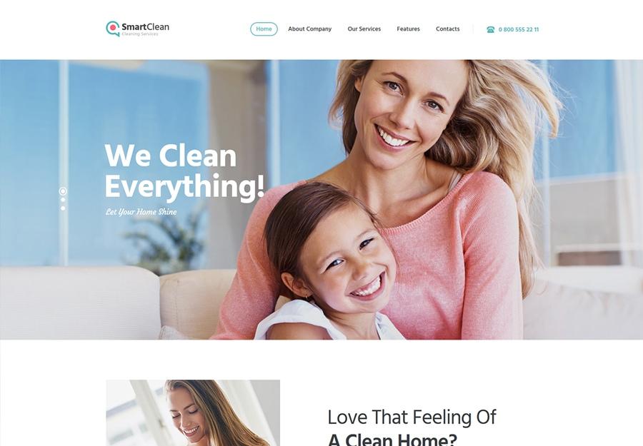 SmartClean - Tema WordPress para Empresa de Limpeza