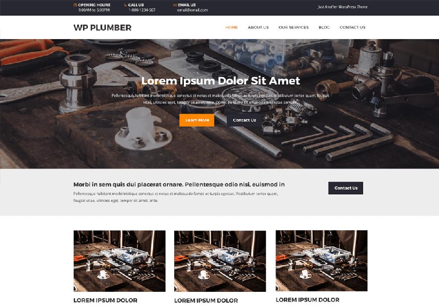 WP Plumber - Tema WordPress para Serviços de Encanamento