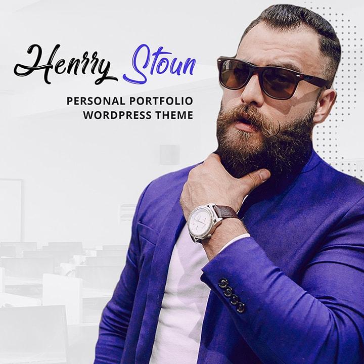 Henry Stoun - Tema WordPress para Sites Pessoais
