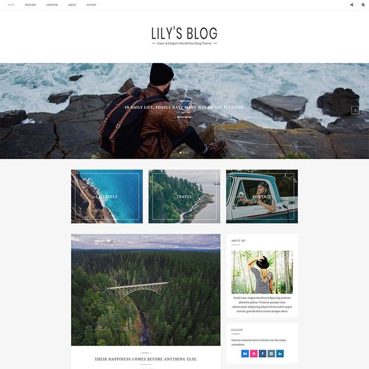 Lily - Tema WordPress para Blogs Elegantes