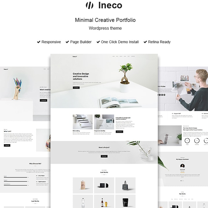 Ineco - Tema WordPress Criativo Minimalista