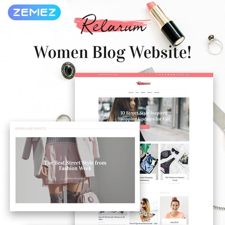 Relarum - Tema WordPress para Blog Feminino Clássico Multipropósito