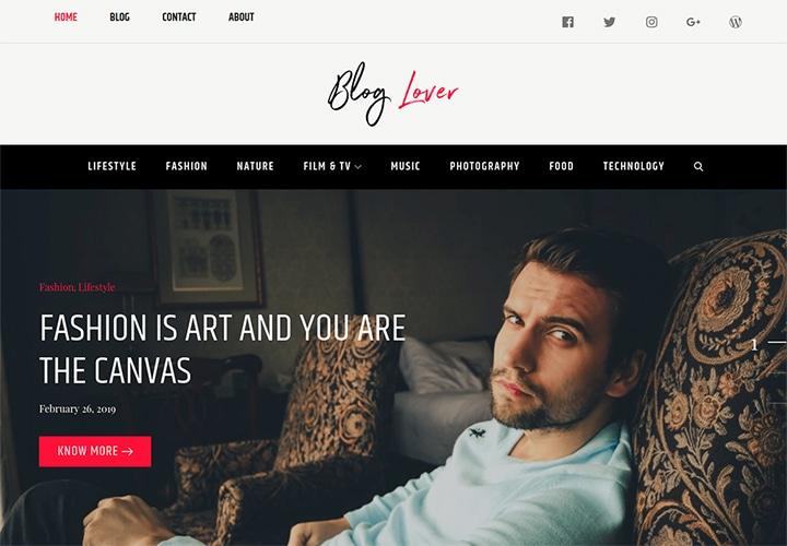 Blog Lover - Tema WordPress para Bloggers